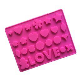 $enCountryForm.capitalKeyWord UK - Silicon chocolate mold Pink LOVE words shape cake mold English letters ice tray mold miscellaneous figure heart fandant tool 26 Holes CMP08