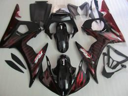 $enCountryForm.capitalKeyWord Canada - ABS plastic fairing kit for Yamaha YZF R6 03 04 05 red flames black fairings set YZF R6 2003 2004 2005 OT26
