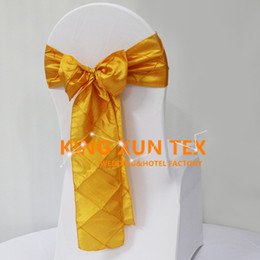 Used chair covers for weddings online shopping - Nice Looking Taffeta Pintuck Chair Sash Chair Bow Used On Banquet Spandex Chair Cover For Wedding Decoration