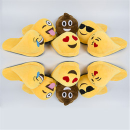 2b37c399f6d DreamShining Emoji Slippers Yellow Cartoon Plush Slipper Women Men Home Slippers  Winter House Shoes One Size 6 Style