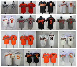 f82705011 ... Throwback Baltimore Orioles 5 Brooks Robinson Jerseys 8 Cal Ripken Jr  Cheap Baseball Jersey 100% ...