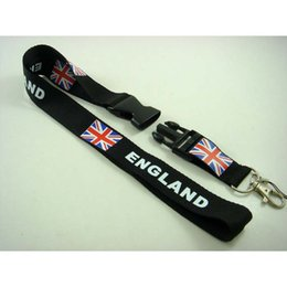 Chinese  Hot!10pcs NEW Classic England Flag Lanyards, ID card holder, Neck Strap Lanyard, Phone Neck Strap Black manufacturers