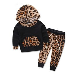 Zebra print baby online shopping - Baby Clothes Autumn Kids Leopard Print Top Pants Outfits Baby Casual suit s l