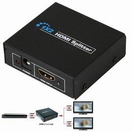 Оптовое - 1x2 Разъем HDMI Switch Splitter Box 1 Вход 2 Выходные порты Поддержка 3D Full HD 1080P DVD-плееров для PS3 Playstation Xbox360 DVD UK Plug