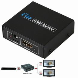 Großhandels-1x2 HDMI Schalter Splitter Box 1 Eingang 2 Ausgang Ports Unterstützung 3D Full HD 1080P DVD-Player für PS3 Playstation Xbox360 DVD UK-Stecker