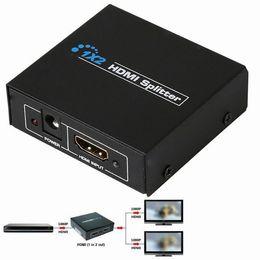 Vente en gros - 1x2 HDMI commutateur Splitter Box 1 entrée 2 ports de sortie prise en charge 3D Full HD 1080p lecteurs DVD pour PS3 Playstation Xbox 360 DVD UK Plug