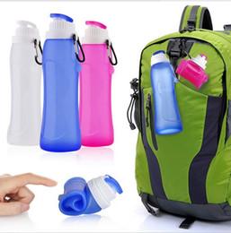 $enCountryForm.capitalKeyWord UK - outdoor sport Anti-Bottle Silicone Folding Kettle Tour Climbing Hiking Camp Water Bottle Portable Sport Foldable Gift Mug
