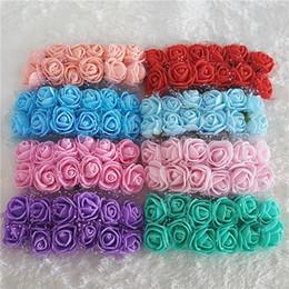 $enCountryForm.capitalKeyWord Australia - Wholesale-12PCS PE Rose Foam Artificial Mini Silk Flowers Bouquet Solid Wedding Flower Decoration Scrapbooking Artificial Rose Flower