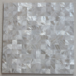 Water Tablets UK - [FREE SHIPPING] 20x20mm chip size white color mother of pearl shell Tile , seamless tile, MgO board backer, fresh water shell tile ( MS018w)