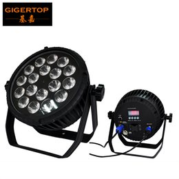 Power outs online shopping - CRONUS RGBWAU No Waterproof x12W Flat Led Par Light IP20 Waterproof Rate Power DMX In and Out Socket Button Display