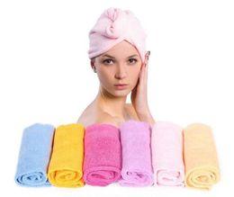 $enCountryForm.capitalKeyWord NZ - Wholesale Magic Quick Dry Microfiber Hair Towel Hair-drying Ponytail Holder Cap Towel Lady Microfiber Towels for Drying Hair Hat Cap MFLH11