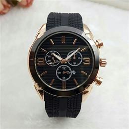 Discount analog watches date - popular Brand Men's Rubber strap date Calendar quartz wrist Watch AR05