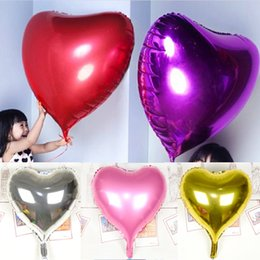 balloon shaped wholesale Canada - 30inch 75cm Party Wedding Decor Balloons - Heart Shape Foil Helium Balloons Birthday Wedding Anniversary Party Supplies