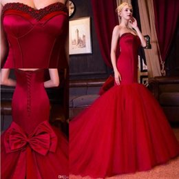 Corset Fiesta Pas Cher-Robes de soirée à manches longues New Red Robe De Soiree 2017 Robe de soirée à rayures en argent à la main en argent sterling Corset Back Bow Fiesta Evening Party Gowns