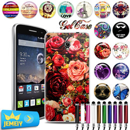 Discount alcatel one touch phone covers - Wholesale- For Alcatel one touch Pop 2 4.5 M5 5042X 5042D 5042A 5042W 5042 Case TPU Gel Back Cover Soft Silicone Bag Pri