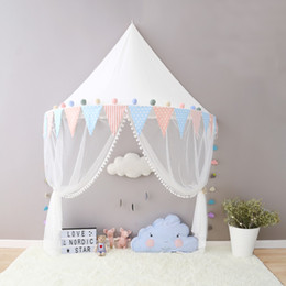 boys girls canopy tent with hanging mosquito net portable crib tent bed curtain kids room decoration day gifts