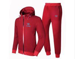 $enCountryForm.capitalKeyWord Canada - Q885 New Diamond Supply Brand Sweatshirt Fashion Solid Fleece zipper Hoodie Mens Hip Hop Suit Pullover Tracksuits