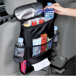 car baskets Canada - Multi Pocket Car Covers Seat Organizer with cooler bag Insulated Food Storage Container Basket Stowing Tidying Bags car styling