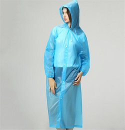 Housses De Machines Imperméables Pas Cher-Transparent Raincoat Femmes Hommes Portable Outdoor Travel Rainwear Imperméable à l'eau imperméable à la machine à capuche Ponchos Plastic Rain Cover