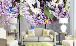 $enCountryForm.capitalKeyWord NZ - custom photo luxury 3d stereoscopic wallpaper Flowers butterfly board 3d room wallpaper landscape
