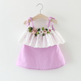 $enCountryForm.capitalKeyWord Canada - Baby Girls Party Dresses 2017 Summer Fashion Tutu Princess Dress Casual Cute Flower Costume Kids Clothes Infant Baby Dress