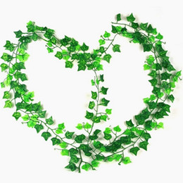 Fake vine Foliage online shopping - 2 m Artificial Ivy Leaf Garland Plants Vine Fake Foliage Flowers Home Decor Plastic Artificial Flower Rattan Evergreen Cirrus