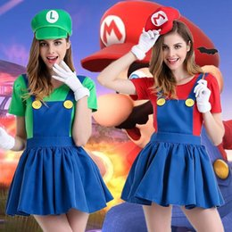 Animaux Lingerie Sexy Xxl Pas Cher-Hot Sale Cute Mario Costume d'Halloween Anime Game Role Play Dress Cosplay Sexy Lingerie