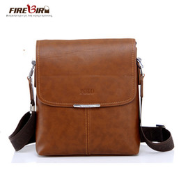 Messenger Bags For Men Leather Canada - Wholesale- 2016 High Quality PU Leather POLO Men Messenger Bags shoulder bags for men Crossbody Bags handbag Casual Briefcase bolsos FB2090