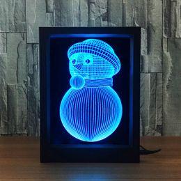 $enCountryForm.capitalKeyWord NZ - Snowman 3D Lamp LED Photo Frame Decoration Lamp IR Remote 7 RGB Lights DC 5V Factory Drop Shipping Color Gift Box