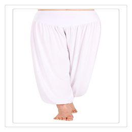 Womens White Yoga Pants NZ - New Outdoor Wear Yoga Pants Womens Modal Cotton Lady Soft Yoga Sports Dance Harem Pants Belly Dance Yaga Wide Pants Trousers Free Shipping