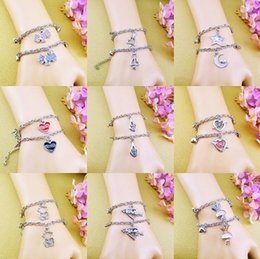 $enCountryForm.capitalKeyWord NZ - High quality Valentine's Day Little Couple Fashion Couple Bracelet FB354 mix order 20 sets a lot 1 set=2 pieces