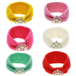 $enCountryForm.capitalKeyWord NZ - European Fashion Infant Baby Knitted Headbands Girls Hair Bands Childrens Crown Knot Hair Accessories Lovely Kids Headwraps 6 Colors