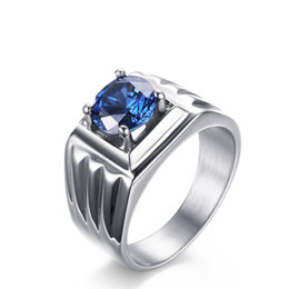 $enCountryForm.capitalKeyWord NZ - Meaeguet Lianduo silver plated ring engagement for men 316l stainless steel ring with simulated CZ Stone male wedding jewelry RC-252