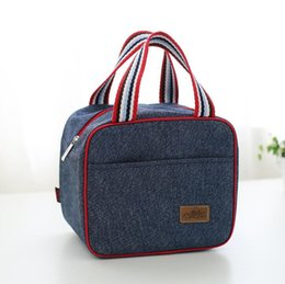$enCountryForm.capitalKeyWord Canada - Denim Lunch Bag Kid Bento Box Insulated Pack Picnic Drink Food Thermal Ice Cooler Leisure Accessories Supplies Product