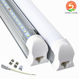 frost led tubes Australia - Integrated 4 ft led tube light Bulbs Frosted Clear Cover 100lm w SMD2835 4ft led shop light for ceiling use