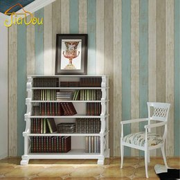 Woods Wall Decor Canada - European Style Vintage Wood Texture Wallpaper Non-Woven Wall Papers Home Decor Living Room Sofa TV Background Papel De Parede 3D