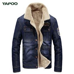 6e626821 Al por mayor-TAPOO Luxury Brand Design Chaqueta de invierno para hombre  rompevientos tallas grandes 4XL Mens Denim Chaquetas y abrigos para hombre  Deep Blue ...