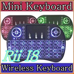 $enCountryForm.capitalKeyWord Canada - 200X Rii I8 Mini Keyboard Wireless Backlight RED Green Blue Light Air Mouse Remote With Touchpad Handheld For T95 M8S S905X S905 TV BOX A-FS