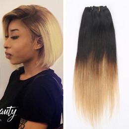 $enCountryForm.capitalKeyWord NZ - Virgin Brazilian Straight Hair Ombre Honey Blonde Weave Two Tone Ombre 1b 27 Hair Extensions soft Brazilian Human Hair Straight