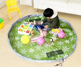 Wholesale 2017 New colorful baby play mat cm playing mats toy storage bag portable toys storage bag Blanket Rug Boxes Toys Organizer Christmas gift