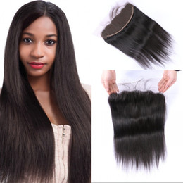 $enCountryForm.capitalKeyWord NZ - 13x4 Ear to Ear Frontal Lace Closure Middle Free 3 Part Straight Indian Non-remy Human Hair Frontal 8-22 inch FDSHINE