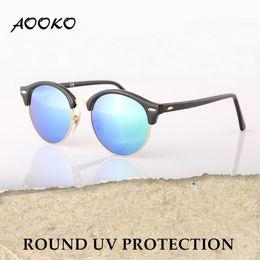 Uva Uvb sUnglasses online shopping - AOOKO Newest Hot Designer Brand Club UVA UVB Sunglasses Round Men Sun Glasses Women Outdoor Retro Sunglass Gafas de sol mm COLORS