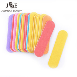 $enCountryForm.capitalKeyWord Canada - Wholesale- 100Pcs Lot Professional Mini Nail File Buffers Block Art Durable Buffing Grit Sandpaper For Manicure Natural Nails Tools 60mm