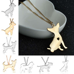 Discount schnauzer gifts - Maxi Statement Metal Alloy Chihuahuas Dog Choker Necklace Chain Collar Pendant Fashion Schnauzer Corgi Puppy Dog necklac