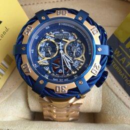$enCountryForm.capitalKeyWord Canada - 2017 new gold watches to the U. S. he Invictas big racing watch stainless steel waterproof hollow quartz men's men's Watch