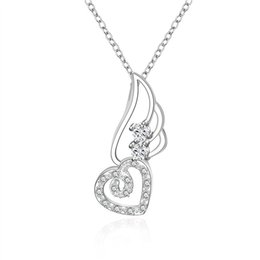 Best Wedding Pendant Australia - best gift Peach heart mosaic sterling silver plated jewelry Necklace for women DN622,wedding 925 silver Pendant Necklaces with chain