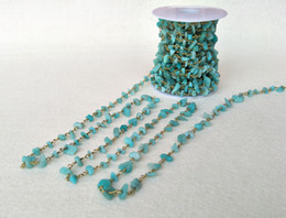 Crystal Chips NZ - Amazon Stone Crystal amazonite Chips Jewelry Finding Necklace Chains,Gold Color Chain DIY necklace bangle women jewelry making LZ18