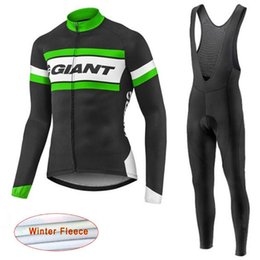 Giant Cycling Clothing Green Canada - 2017 giant Cycling jerseys bicycle maillot ropa ciclismo hombre Winter thermal Fleece cycling clothing mtb bike wear bicicleta jersey C2203