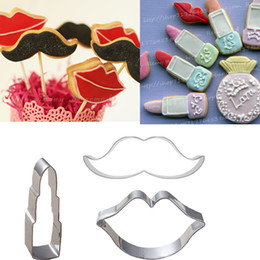 $enCountryForm.capitalKeyWord Canada - 3pcs lips Lipstick Moustache cookie mold set metal craft cake tool steel fondant mold bakeware