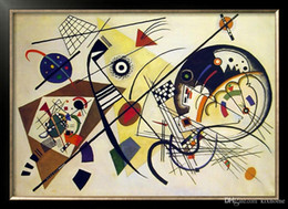 Painting Can Australia - DURCHGEHENDER STRICH by Wassily Kandinsky Pure Handpainted Abstract Art oil painting On High Quality Canvas size can customized